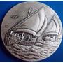 Medalha Prata 900-400 Anos Da Força Naval-50 Mm-peso 64 Grs