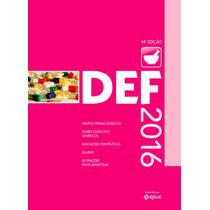Livro Def 2015 Dicionário Especialidades Farmacêuticas Novo