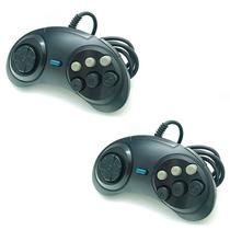 Kit 2 Controle Mega Drive 2 3 C 6 Botão Similar Original K31