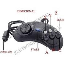 Controle-mega Drive- Master Sistem De 6 Botões Novo Lacrado