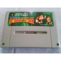Linda Donkey Kong Original Super Nintendo Gravando!