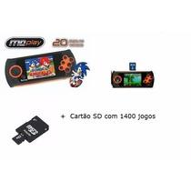 Game Mega Drive Portátil Md Play - Desbloq + Sd 1400 Jogos
