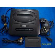 Belo Mega Drive 3 Tectoy Entrada Sega Cd Com Av E Jogo!