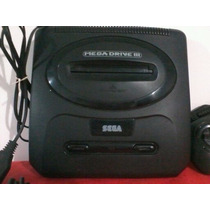 Vídeo Game Mega Drive 3 Sega Com 2 Controles