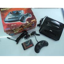 Mega Drive 3 Com Caixa - Cartucho Com 10 Jogos