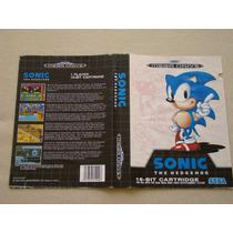 Encarte Sonic The Hedgehog - Mega Drive / Genesis