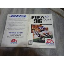 Manual Do Jogo Fifa Soccer 96 -original P/megadrive(genesis)