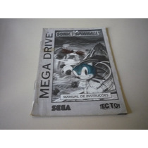 Manual Do Jogo Sonic Spinball - Original Megadrive