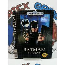 Encarte Manual Capa Jogo Mega Drive Original Batman