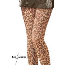 Meia-calça Estampa De Oncinha Onça Animal Print Leg Avenue