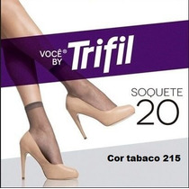 Pacote C/12 Pares Meias Trifil Soquete N 20 Tabaco Cor 215