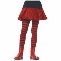 Meia-calça Listrada Preto E Vermelho Infantil Leg Avenue 4-6
