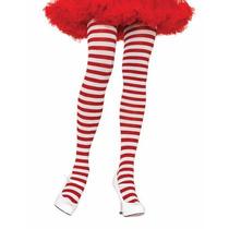 Meia-calça Listrada Vermelho E Branco Leg Avenue Fantasia