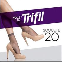 Pacote C/10 Pares Meias Trifil Soquete N 20 Natural Claro268