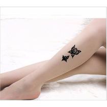 Meia Calça Transparente Tatuagem Discreta Pronta Entrega