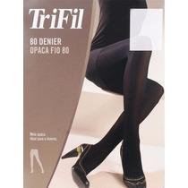 Meia-calça Trifil Fio 80 Denier 6352 Tam M - Cor Ameixa
