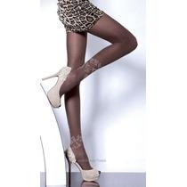 Meia Calça Fashion Preta Sexy Fiore Camilla Fio 40 Trabalhad