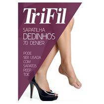 Trifil -sapatilha Dedinhos 70 Denier - Um Par - Cor Natural