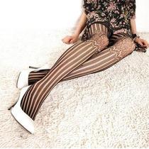 Meia Calça Fashion_arrastão_listras Verticais_j.rock_emo