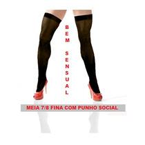 3 Pares De Meias Fina 7/8 - Com Punho Social