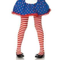 Meia-calça Listrada Vermelho Branco Infantil Leg Avenue 4-6