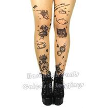 Meia Calça Alice No País Das Maravilhas Tattoo Tatuagem