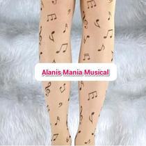 Meia Calça Musical Juvenil Tattoo