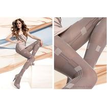 Meia Calça Fashion Gatta Afra Fio 40 Linda