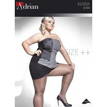 Meia Calça Adrian Extra G Preta E Pele Lisa Fio 20 Importada