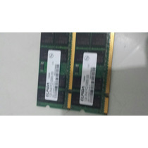 Memória Ram Ddr2 Para Notebook, Dois Pentes 2gb, 555.
