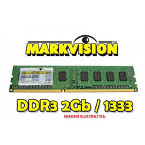 Lote 5 Memorias Markvision Ddr3 2gb Pc10600 1333 Mhz Cod 15