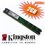 Memória Kingston Ddr2 2gb 800mhz-frete Barato !!! Liquidação