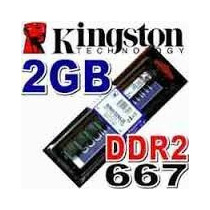 Memória 2gb Ddr2 667mhz Kingston Kvr667d2n5/2g