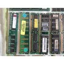 Diversas Memórias Pc Pc100 133 400 2100 Dimm 128/256/512mb