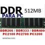 Memoria Ddr1 512mb Pc 266-333-400 Compre Já