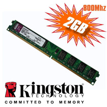 Memória Kingston Ddr2 2 Gb 800 Mhz Pc6400 Desktop