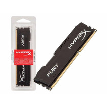 Memoria Kingston Hyperx Fury 8gb 1866mhz Preta Ddr3 Cl10 Dim