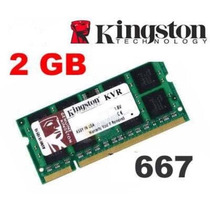 Memória Para Notebook Kingstonddr2 2gb 667 Mhz Original