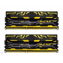Memoria 8gb ( Kit 2x 4gb ) Ddr3 2133mhz Avexir Led Amarelo
