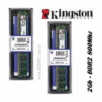 Memória Kingston Ddr2 2gb 800mhz-novo Lacrado