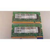 Memória Notebook Ddr2 Smart 512mb Pc2-5300s-555-12-a3 (par)