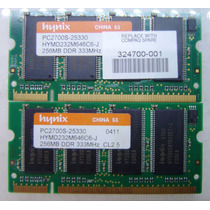 Memória Notebook Hynix Pc2700 256mb Ddr333 Cl2,5 Sodimm