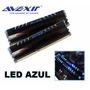 Memoria Led Azul 8gb (kit 2x 4gb) Ddr3 1600mhz Avexir