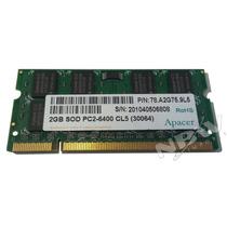 Memoria Ram Notebook Netbook 2gb Ddr2 800mhz Pc2-6400