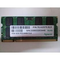 Memória Notebook Netbook Ddr2 2 Gb 800mhz Pc6400 Apacer