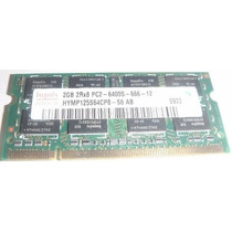 Memória Ram Notebook Hynix 2gb 2rx8 Pc2 6400s Frete Grátis