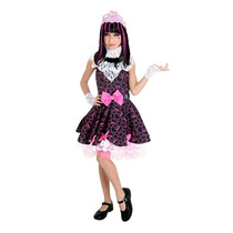 Fantasia Luxo Infantil Barbie Monster High2 Draculaura Doce
