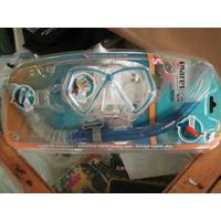 Kit Mergulho Mascara Silicone E Snorkel Mares Junior Importa