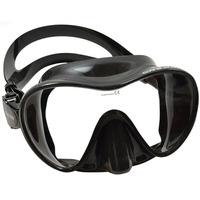 Mascara Mergulho Frameless F1 Cressi Sub Cor Preta Ou Transp
