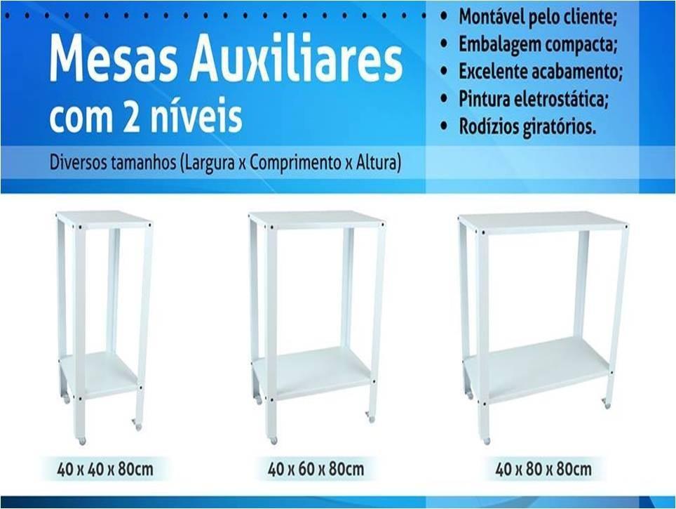 Mesa auxiliar com rod zios p clinica d est tica 40x60x80cm - Mesa auxiliar estetica ...